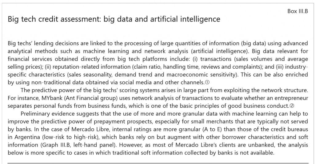 Bank of International Settlements Big Data AI